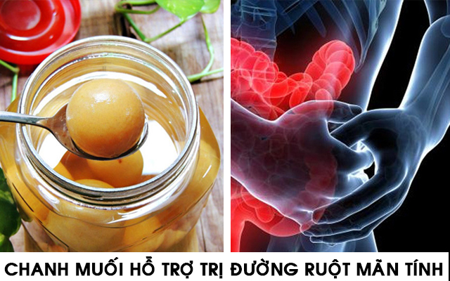 Chanh Muối Hỗ trợ điều trị bệnh đường ruột mãn tính