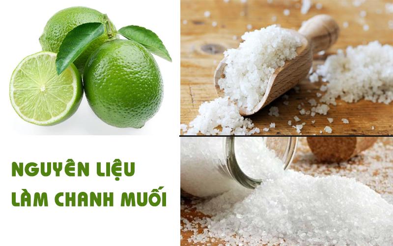 Chuẩn bị nguyên liệu làm chanh muối
