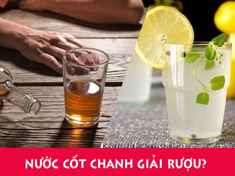 Sử dụng nước chanh để giải rượu