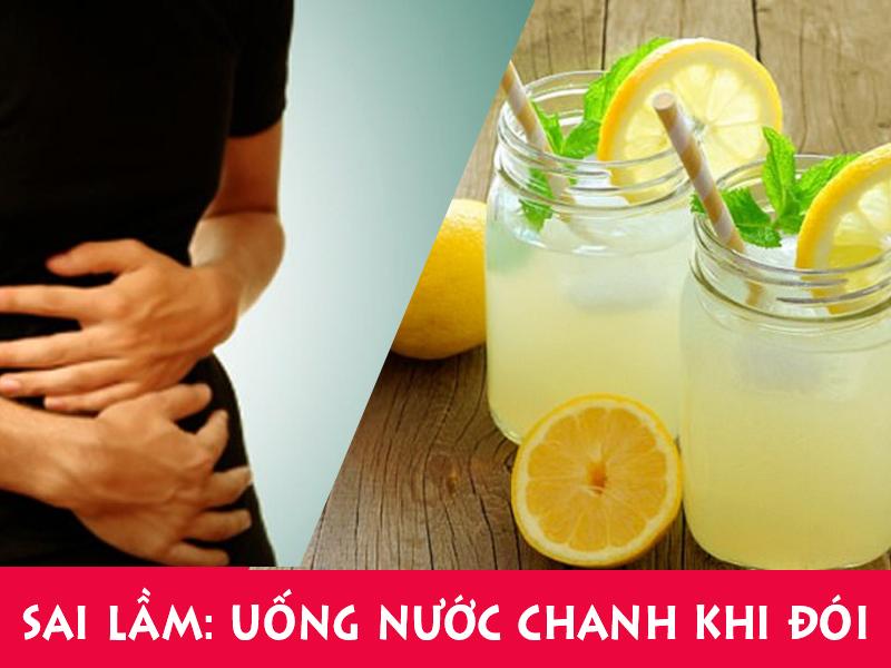 Sai lầm Uống nước chanh lúc bụng đói