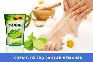 Lợi ích của bột chanh giúp bạn làm mềm gót chân