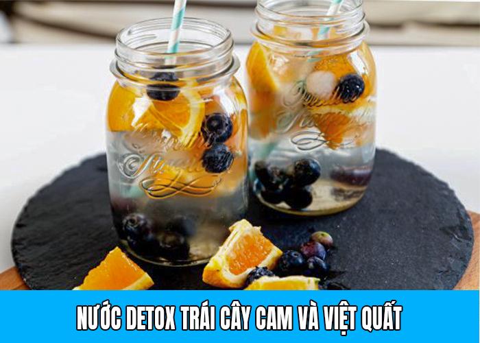 Detox Cam và việt quất tốt cho sức khỏe
