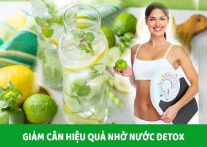 Giảm cân hiệu quả nhờ vào nước detox trái cây