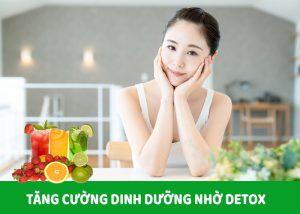 Nước detox trái cây giúp bạn tăng cường dinh dưỡng và năng lượng cho cơ thể